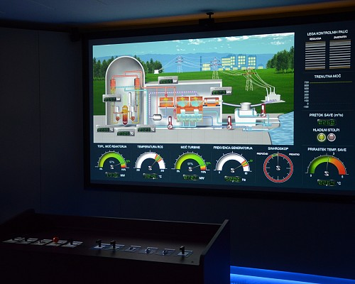 Krško Nuclear Power Plant startup simulation